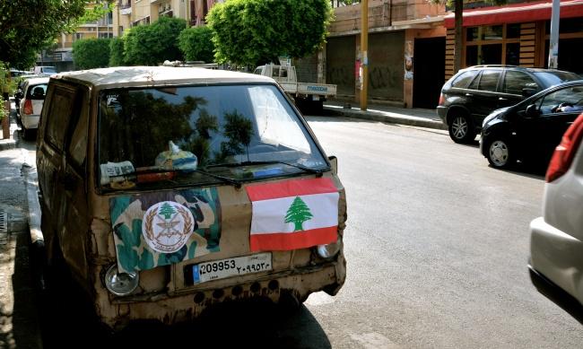 """Beyrouth: Une rue encore étrangement vide.""""c'est toujours comme çà quand la peur s'empare de la ville. @fh"""
