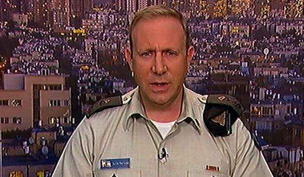 Lieutenant-Colonnel Peter Lerner, porte-parole de Tsahal (capture d'écran)
