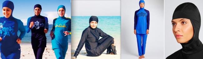 photos publicitaires modèles burkini