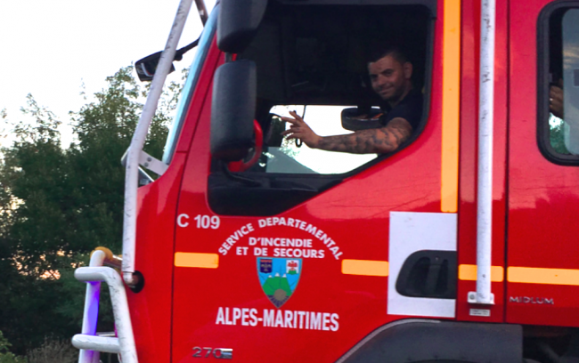 homage pompiers